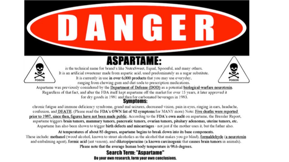 acesulfame potassium dangers